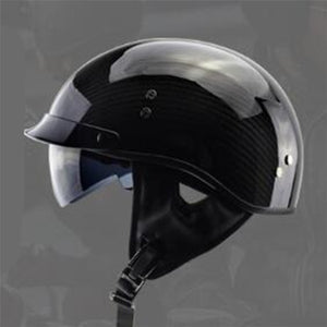 Fiber German Motorcycle Helmet