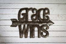 Load image into Gallery viewer, Grace Wins Metal Art