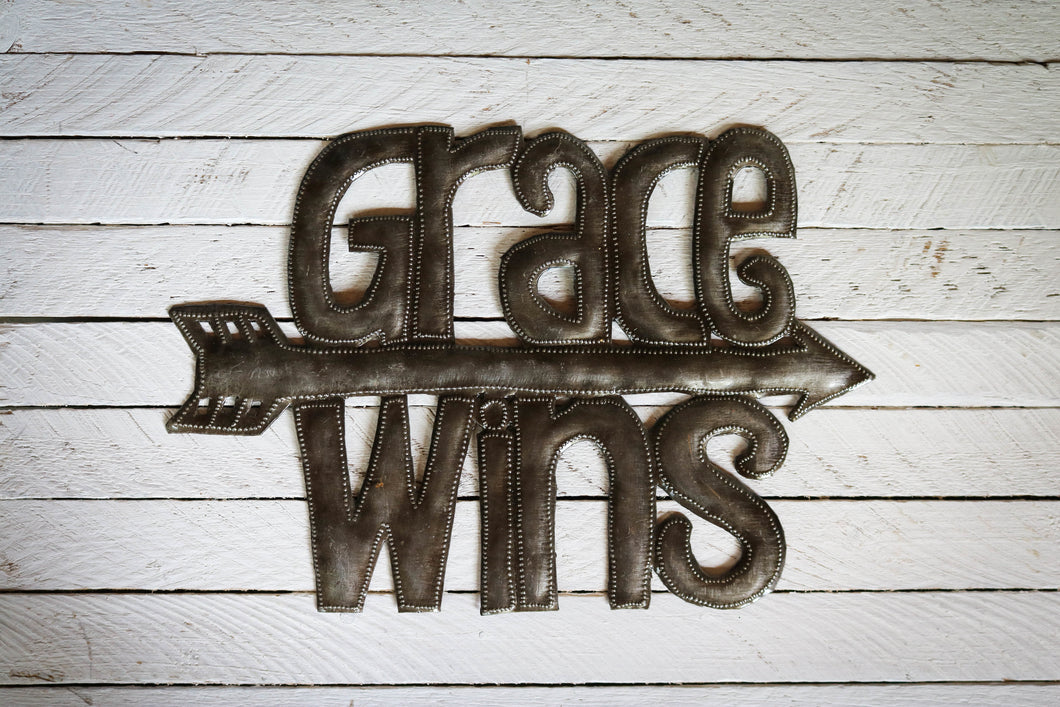 Grace Wins Metal Art