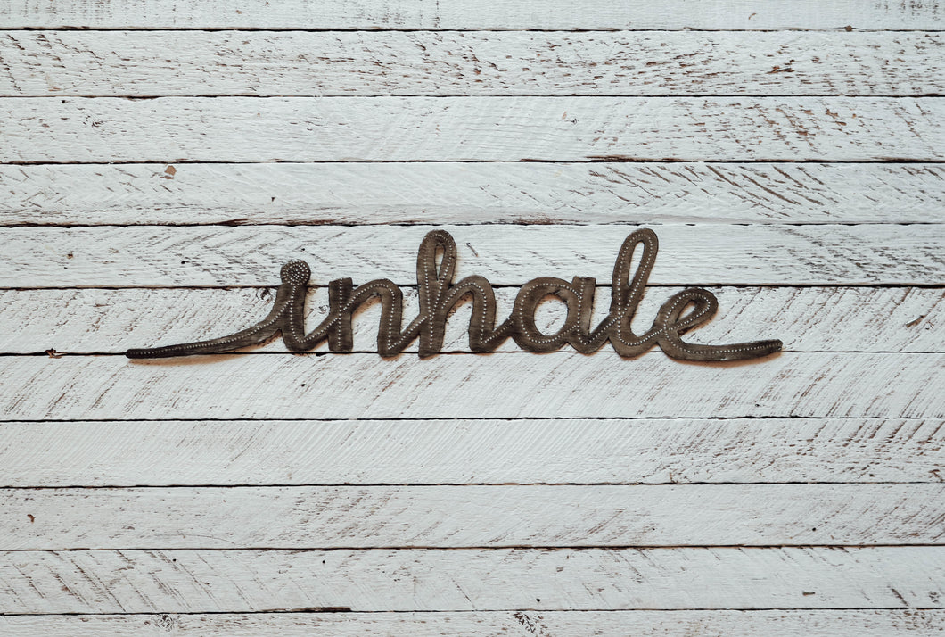 Metal Wall Art - Inhale