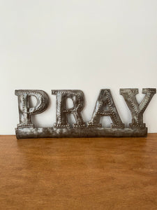 """Pray"" Metal Art"