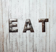 Load image into Gallery viewer, Block Letter Metal Art - Eat
