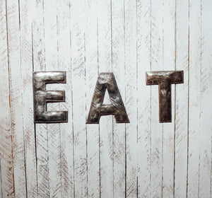 Block Letter Metal Art - Eat