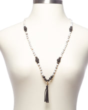 Load image into Gallery viewer, Diffuser Necklace - Grey and White Tassel