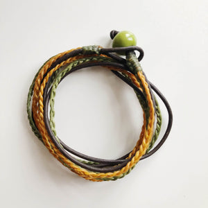 Men's Triple Wrap - Olive & Mustard