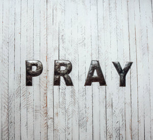 Block Letter Metal Art - Pray