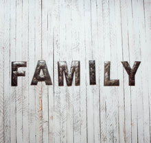 Load image into Gallery viewer, Block Letter Metal Art - Family