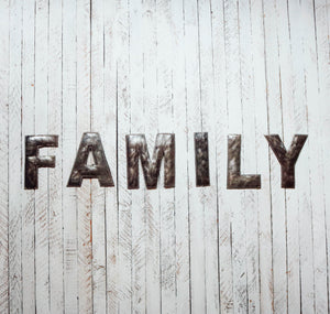 Block Letter Metal Art - Family