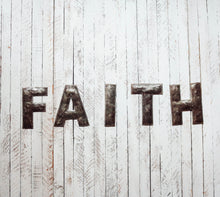 Load image into Gallery viewer, Block Letter Metal Art - Faith