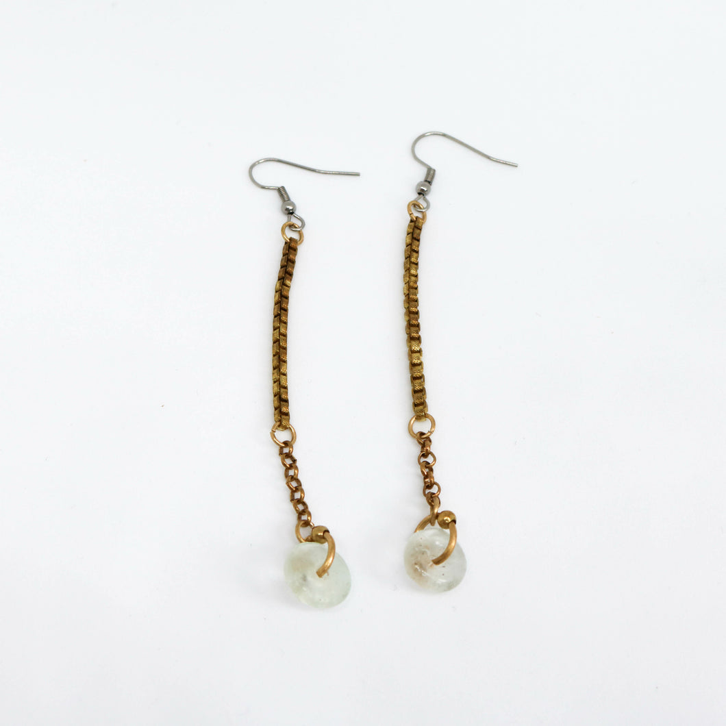 Brass Chain Earrings