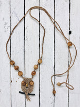 Load image into Gallery viewer, Macrame Owl Necklace