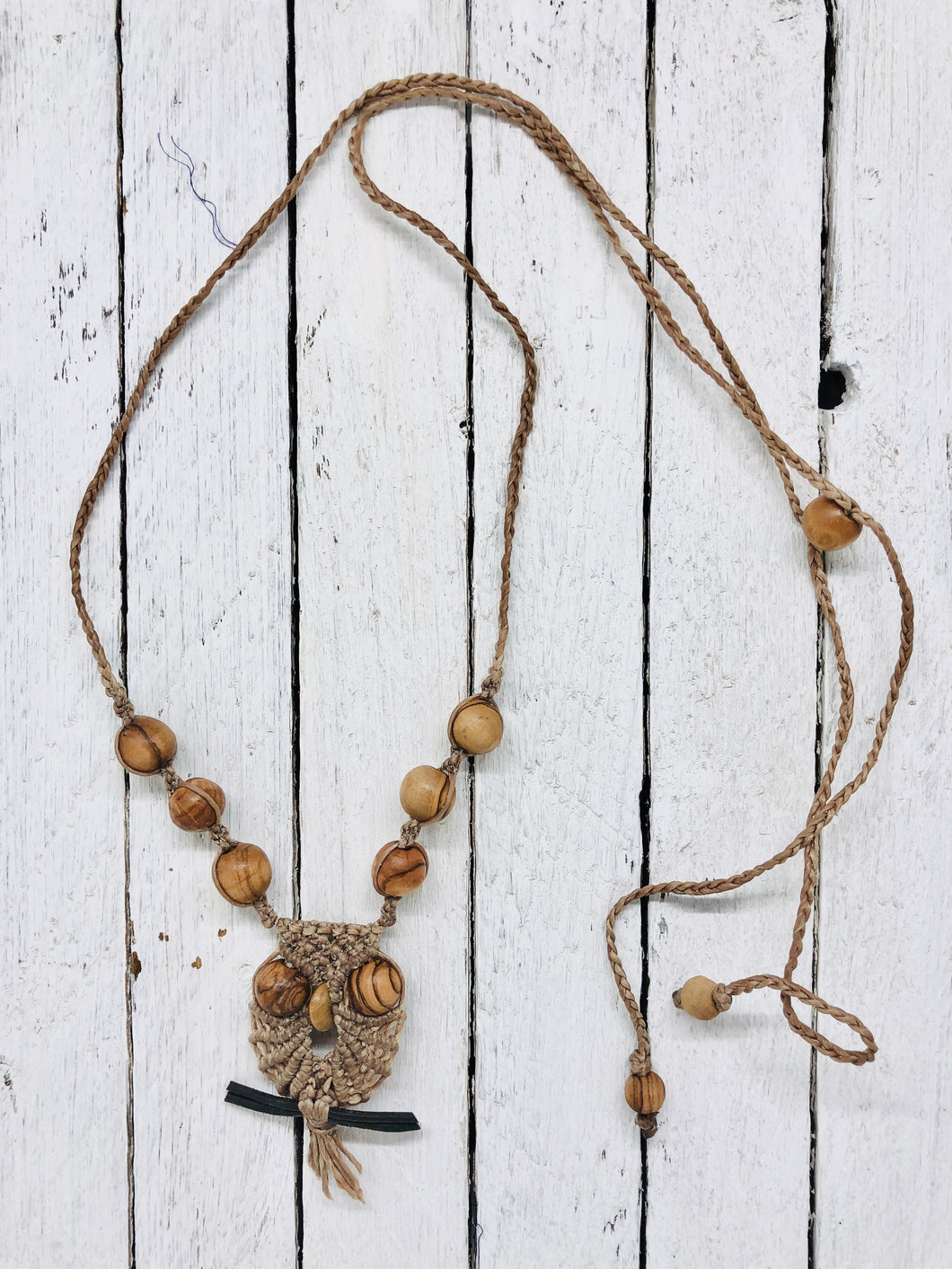 Macrame Owl Necklace