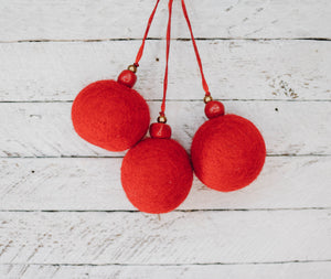 Felt Ball Ornaments - 2 Colours