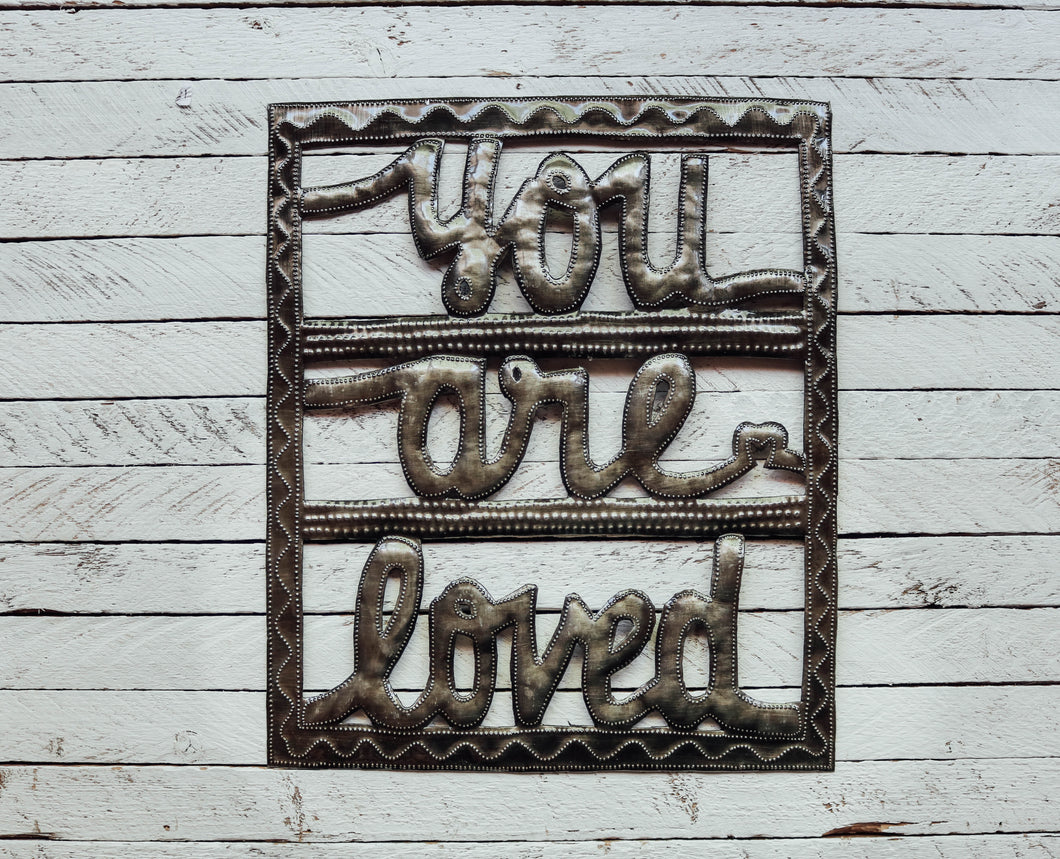 You Are Loved - Metal Wall Art