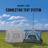 3-Person Connectable Tent with Fast Pitch Setup - Blue