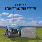 6-Person Connectable Tent with Fast Pitch Setup - Blue
