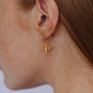 Honey Bee Charm (Clip-On, Fake Piercing)