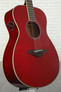 Yamaha FS TransAcoustic Guitar w/Solid Spruce Top - Ruby Red