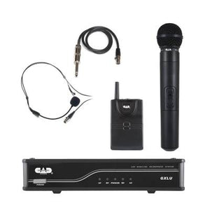 CAD Audio UHF Wireless Combo System - Handheld and Bodypack Microphone System - K Frequency Band