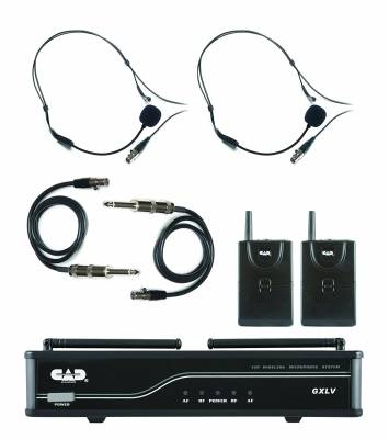 CAD Audio VHF Wireless Dual Bodypack Microphone System - H Frequency Band