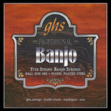 Ghs Ball End 5-String Banjo - Stainless Steel, Ball End, Light