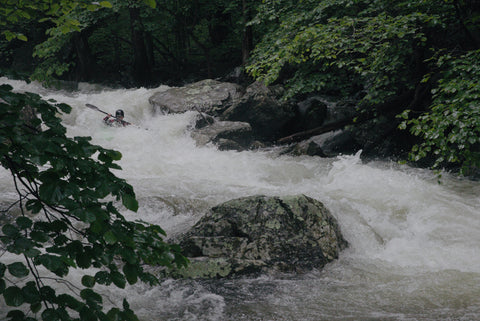 kayaking whitewater in Virginia