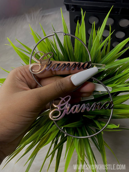 Custom Name Hoops