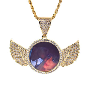 Custom Angel Photo Necklaces