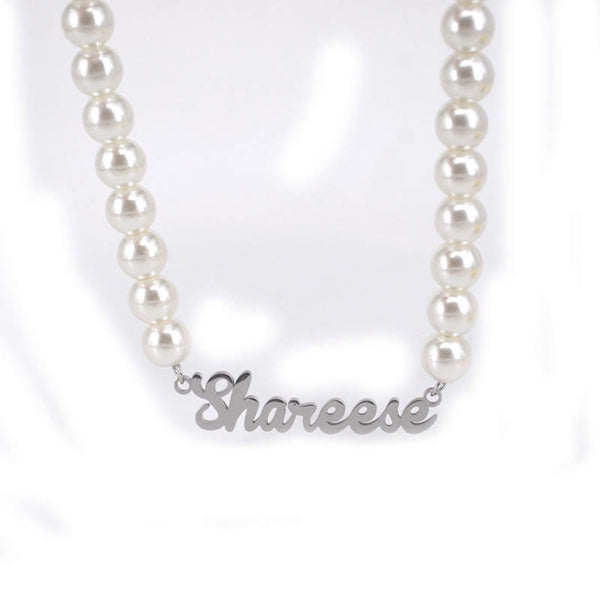 Custom Pearl Name Necklaces