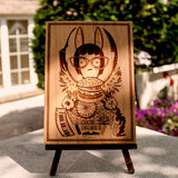 Bobs Burgers Tina wood laser engraved art small plaque