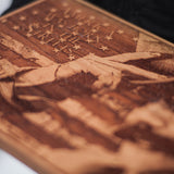 Gangs of New York, laser engraved, laser etched on Cherry Hardwood. Bill the butcher as the main focal point