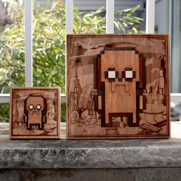 Adventure Time Jake Wood Laser Engraved