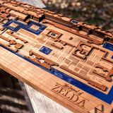 laser engraved zelda map with resin by spitfirelabs.