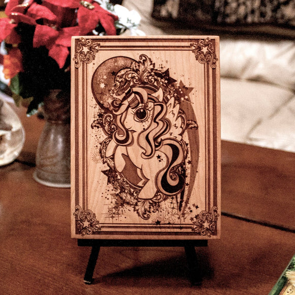 My Little Pony wood laser engraved plaque