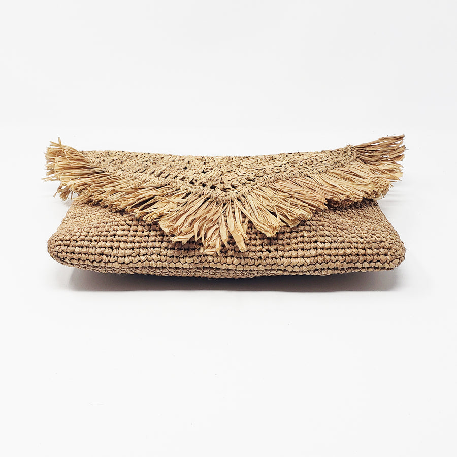 Raffia coaster in the color tea