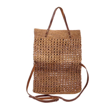 PINEAPPLE Raffia folded satchel