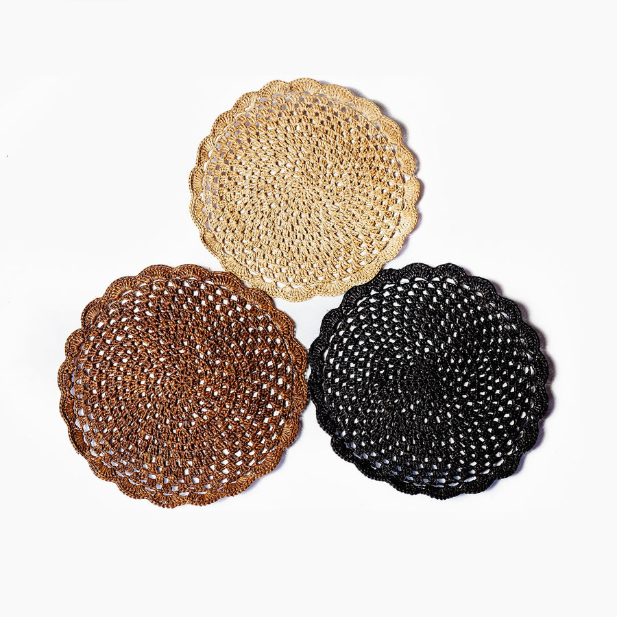 Raffia coasters collection