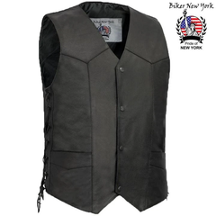 motorbike motorcycle leather vest