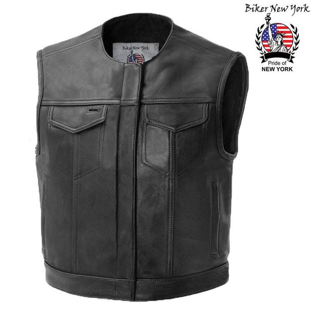 Gladiator - Men's Motorcycle Leather Vest