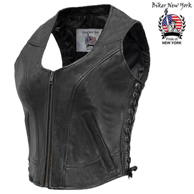 Shooter - Women's Motorcycle Leather Vest