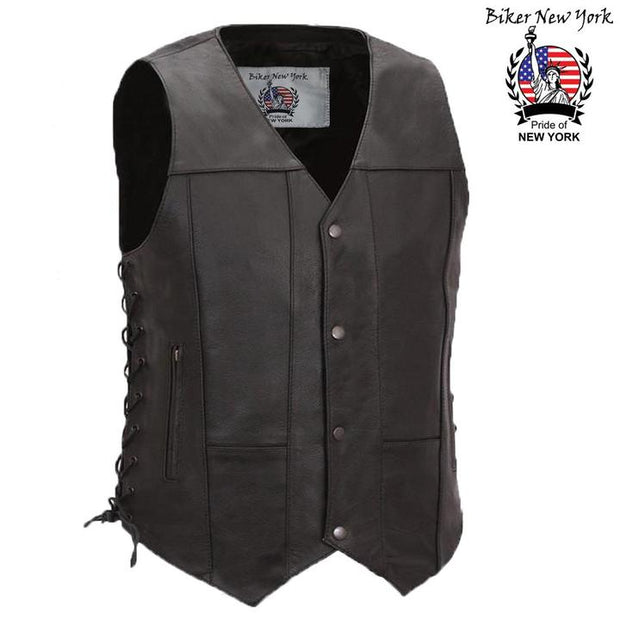 Wind - Men's Motorcycle Leather Vest