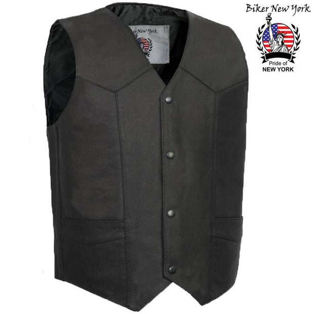 Racer - Men's Motorcycle Leather Vest