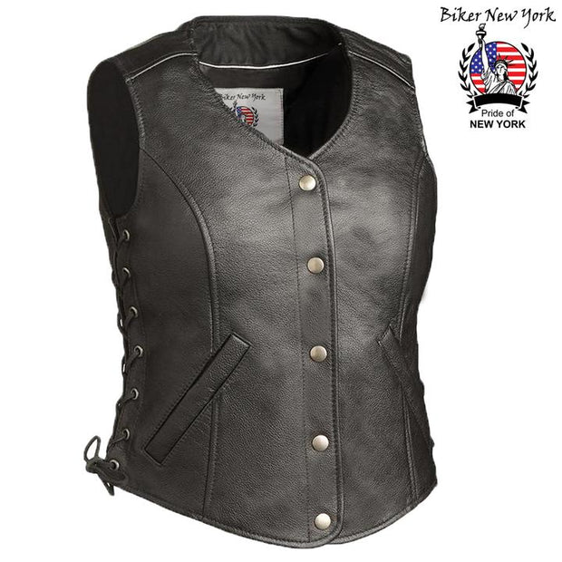 Nitty - Women's Motorcycle Leather Vest