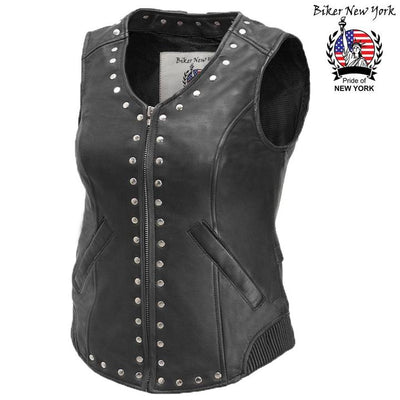 Forza - Women's Motorcycle Leather Vest