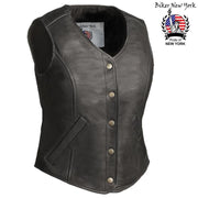 Blossom - Women's Motorcycle Leather Vest