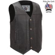 Assey - Men's Motorcycle Leather Vest