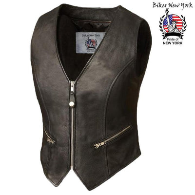 Glory- Women's Motorcycle Leather Vest