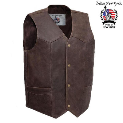 Prince - Men's Motorcycle Leather Vest