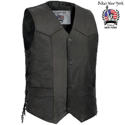 Helley - Men's Motorcycle Leather Vest