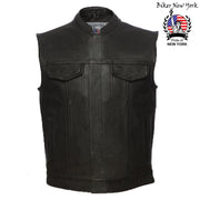 Classical - Men's Motorcycle Leather Vest